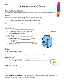 Acids and Bases Study Jams