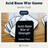 Acids and Bases War of Strength Chemistry Card Game - Star