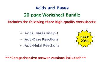 Acids and Bases [Worksheet Bundle]