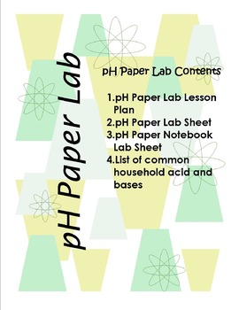 Acids and Bases pH Paper Lab