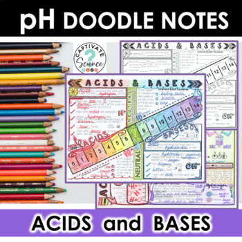 Acids and Bases, pH Scale Doodle Notes by Kate\'s Classroom Cafe | TpT
