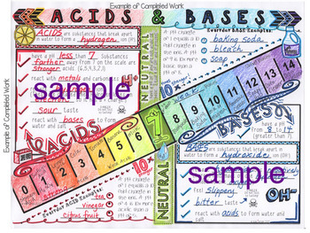 Acids And Bases Ph Scale Doodle Notes By Kate S Classroom Cafe Tpt