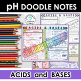Acids and Bases, pH Scale Doodle Notes + Powerpoint Slides