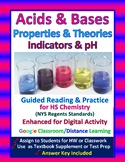 Acid Base Properties pH Indicators Guided Reading & Practice - Distance Learning