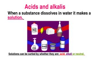 Acids and alkalis