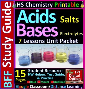 Acids, Bases and Salts BFF: Homework Helper and Test Prep Guide