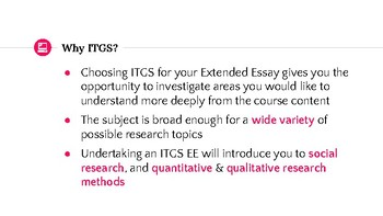 Acing the Extended Essay in ITGS guide 1: choosing a topic