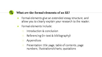 Acing The Extended Essay In ITGS Guide 4 Formal Elements