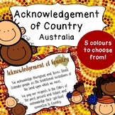 Acknowledgement of Country Poster