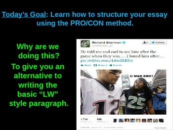 Acknowledging & Disposing of the Opposition Starring Richard Sherman