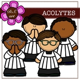 Acolytes Digital Clipart (color and black&white)