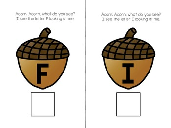 Acorn, Acorn, What Do You See? Adapted Book