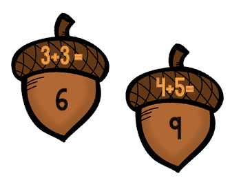 Acorn Addition Puzzles (Adding numbers within 20)