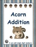 Acorn Addition (Single Digit Addition)