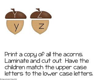 Acorn Alphabet Match Freebie
