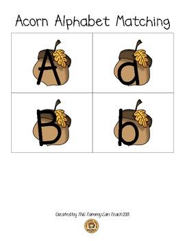 Acorn Alphabet Matching