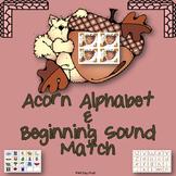 Acorn Alphabet and Beginning Sound Match