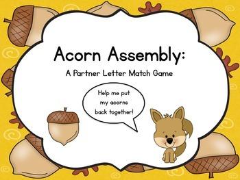 Acorn Assembly: A Partner Letter Match Game