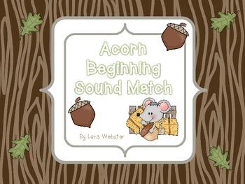 Acorn Beginning Sound Match