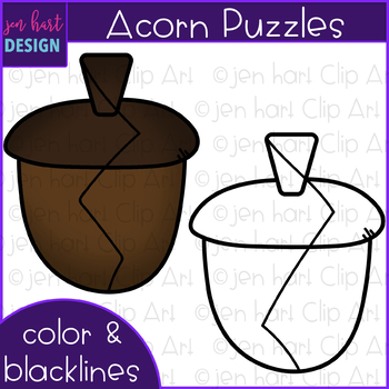 Acorn Clip Art - Acorn Puzzles {jen hart Clip Art)
