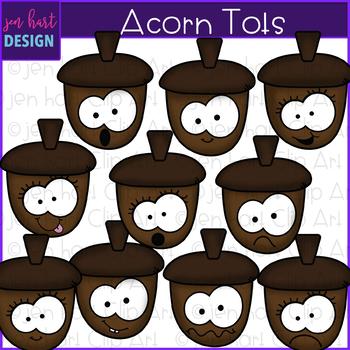 Acorn Clip Art - Acorn Tots clipart {jen hart Clip Art}