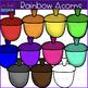Acorn Clip Art - Rainbow Acorn clipart {jen hart Clip Art}