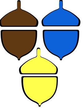 Acorn Color Match Up File Folder Game Match Color with Color Words