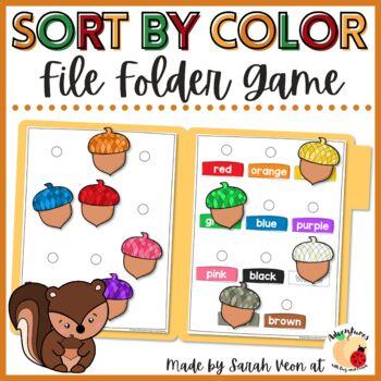 Acorn Color Matching - File Folder Game