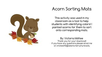 Acorn Color Sorting