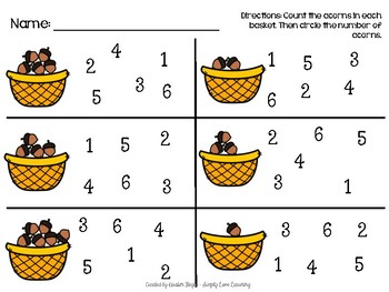 Acorn Count and Match