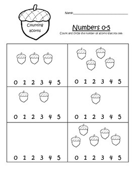 Acorn Counting 0-5