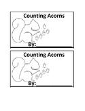 Acorn Counting Emergent Reader book for Preschool or Kindergarten