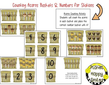 Fall Activity ~  Acorn Counting 0-10