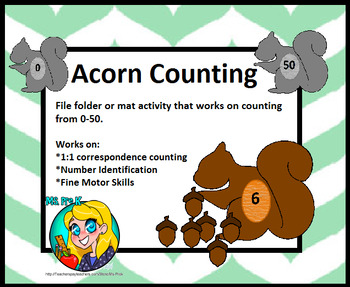 Preschool Acorn Counting Activity