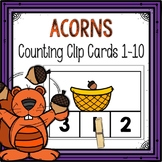 Dollar Deals! Acorn Counting Clip Cards 1-10