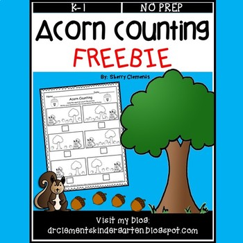Acorn Counting FREEBIE