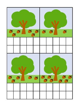 Acorn Counting Ten Frame Activity