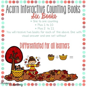 Acorn Counting and Addition Books: Interactive and Differentiated