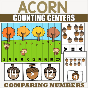 Acorn Counting and Cardinality Centers for PreK and Kindergarten