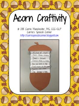 Acorn Craftivity