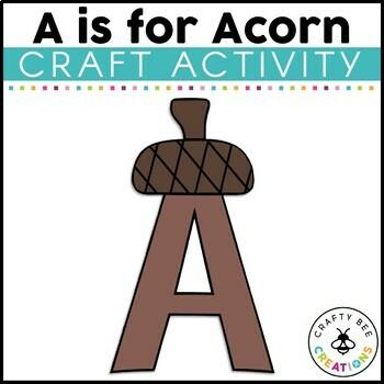 Letter A (Acorn) Cut and Paste