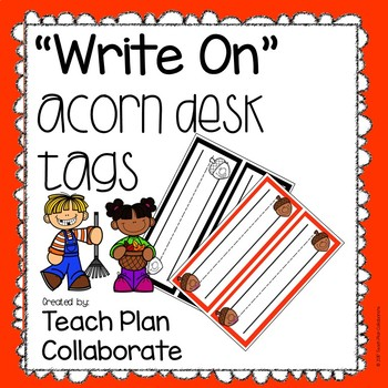Acorn Desk Tags- Write On