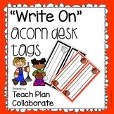 Acorn Desk Tags- Write On