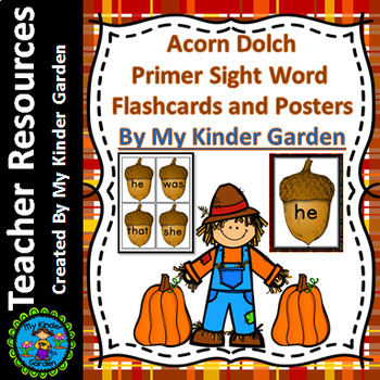Fall Acorn Dolch Primer Sight Word / High Frequency Word F