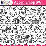 Acorn Emoji Clip Art {Autumn Emoticons and Smiley Faces fo