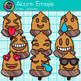 Acorn Emoji Clip Art {Emoticons & Smiley Faces for Brag Tags & Classroom Decor}