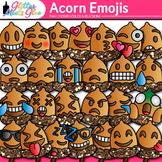 Acorn Emoji Clip Art: Autumn Emoticons and Smiley Faces {Glitter Meets Glue}