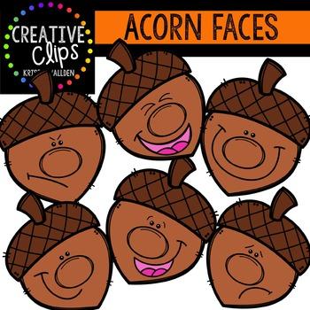 Acorn Faces {Creative Clips Digital Clipart}