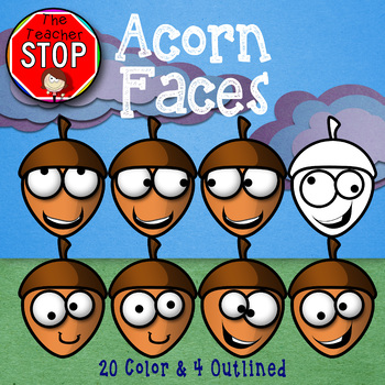 Acorn Faces {The Teacher Stop} FREE FOR A LIMITED TIME