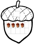 Acorn Fall Thanksgiving Math 10 ten frame 0-20 counting ESL center write number